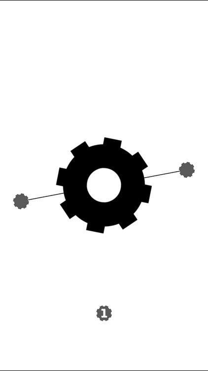 Cogwheels BW : black & white rotating gear wheel screenshot-4