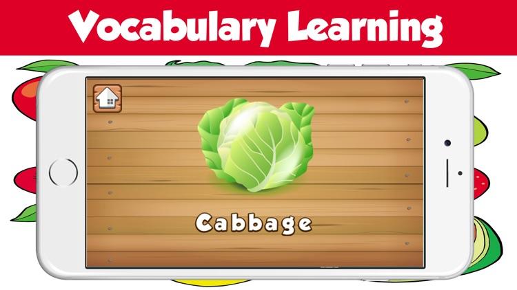 Kids Fruit Vegetable Name Practice Spelling Words By Isoon Sringam