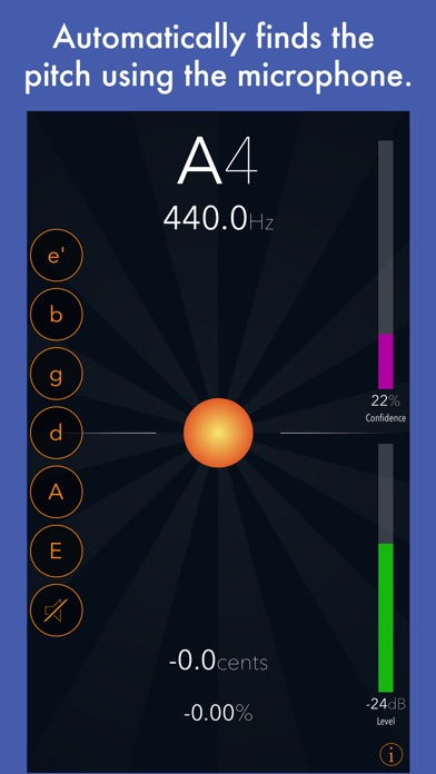 Tuna Pitch - chromatic tuner Screenshot on iOS