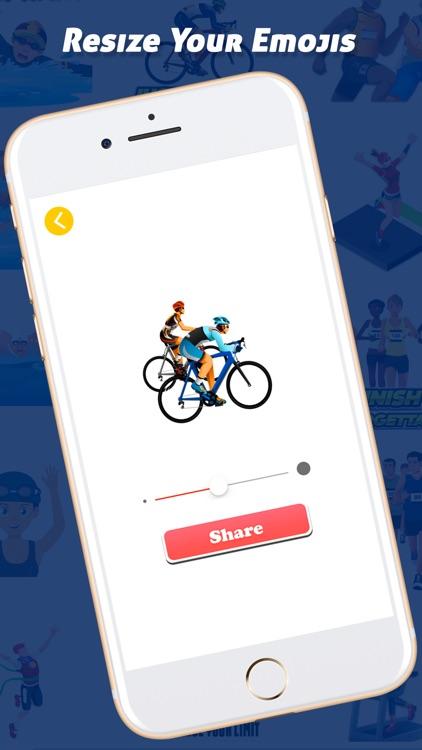TriathlonMoji - Triathlon Emoji Keyboard screenshot-3