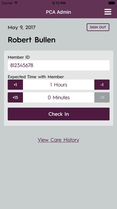 PCA Admin app image