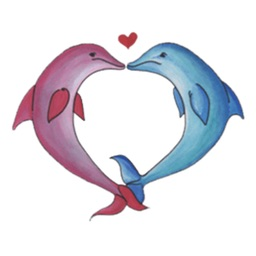 Watercolor Funny Dolphin Sticker