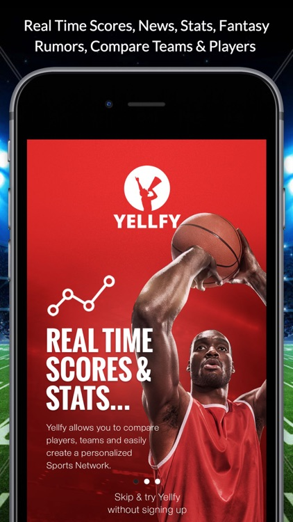 Yellfy Sports - Your Teams Live Scores, News