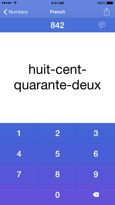 Numbery : convert numbers into words screenshot two