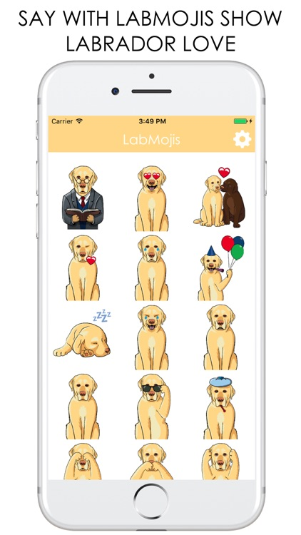 LabMojis - Labrador Retriever Emoji & Stickers screenshot-3