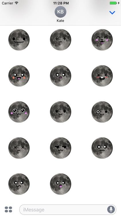MOONEMOJI - Full Moon Emojis screenshot-3