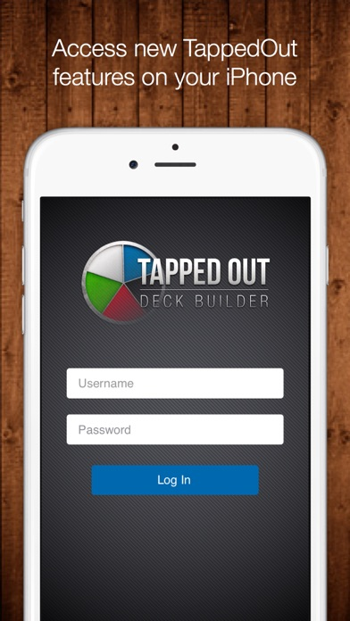 Tapped Out Deck Builder Screenshot on iOS