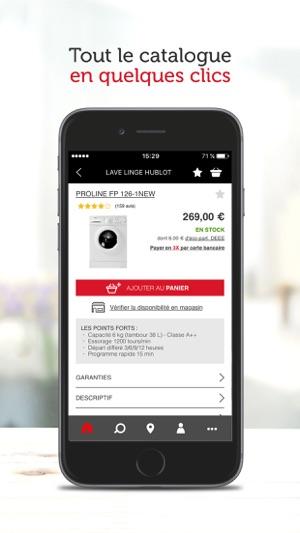 darty dans l app store. Black Bedroom Furniture Sets. Home Design Ideas