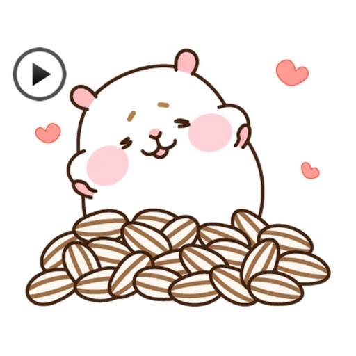 Animated Gluttony Hamster Gif Stickers