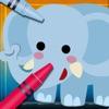 Animal Vocab & Paint Game - 子ども ために キュート ミニ 塗り絵