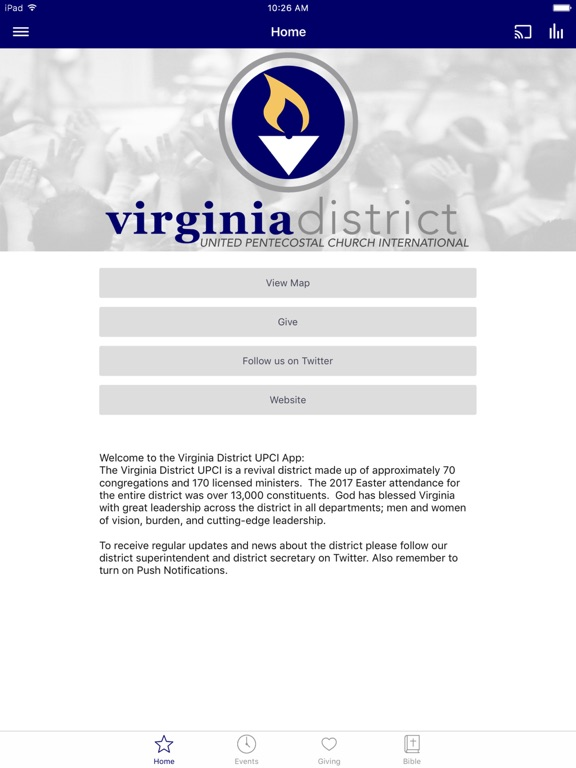 Virginia District UPCI screenshot 4