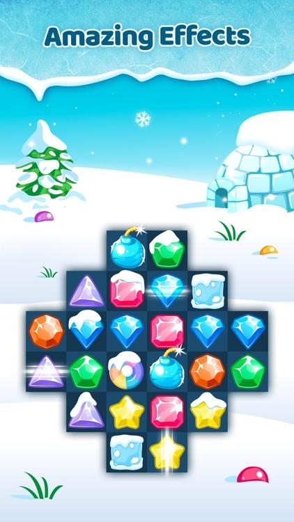 Frozen Jewels Mania - Match 3 Gems Puzzle Legend