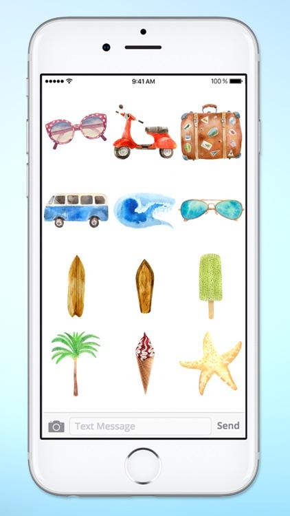 Surfs Up Summer Vacation Beach Sticker Pack screenshot-3