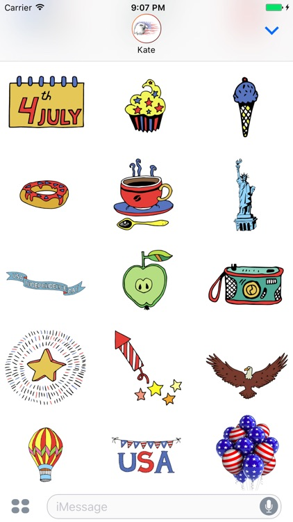 Happy 4th of July Stickers for Day celebration! screenshot-4