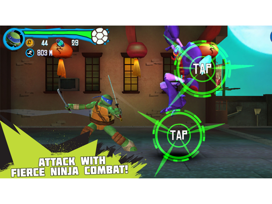 Teenage Mutant Ninja Turtles: Rooftop Run - Screenshot 2