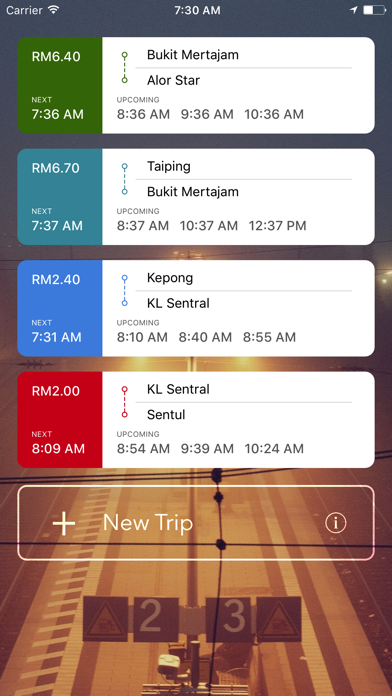 Railway.my - KTMB Schedules & Fares screenshot one