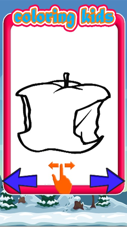 Fruit Painting Games Coloring Book Apples