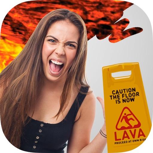 Paint lava effects on photos – Photo editor iOS App