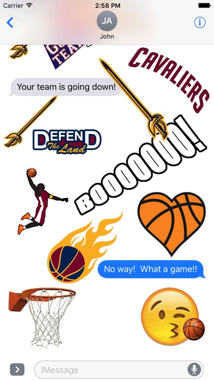 Cavaliers Basketball Stickers
