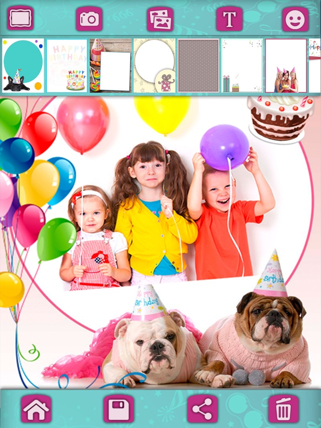 Birthday Greeting Cards Photo Editor Pro 4