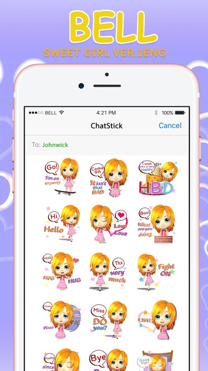 CrazyBell1 Eng Stickers & Keyboard By ChatStick