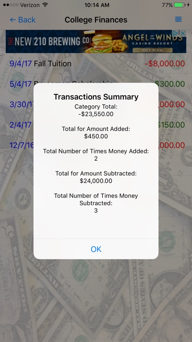 simple cash tracker app price drops
