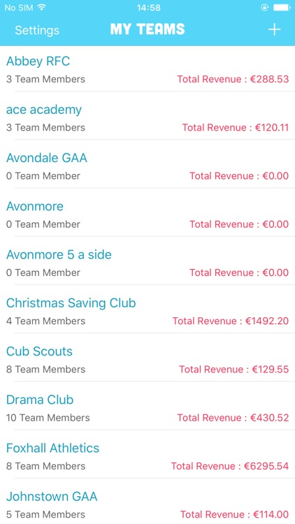 Subs - Club Management