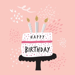 Animated Happy Birthday Card Classic Stickers
