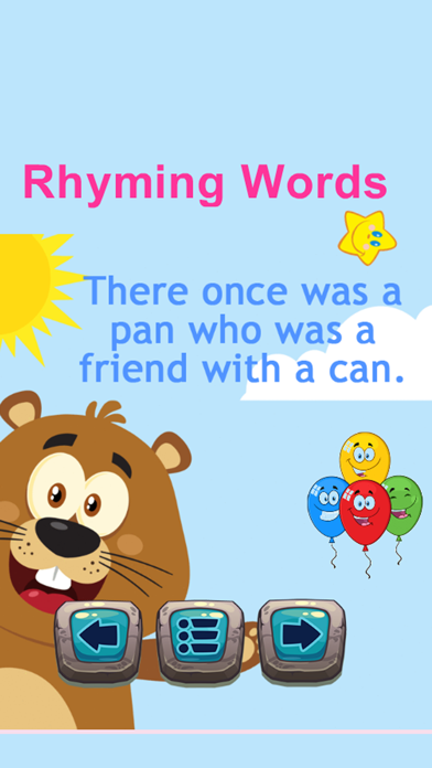 Reading Fun And Easy English Rhyming Words App screenshot two