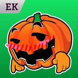 Emoji Kingdom 15 Pumpkin Halloween Emoticon Animated for iOS 8