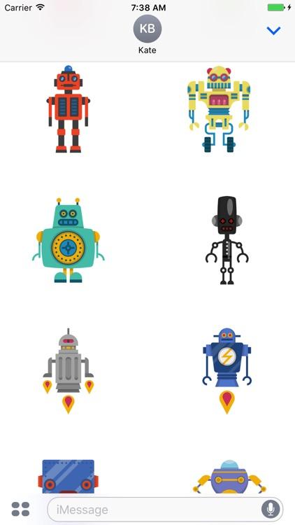 Robots - Cute Colorful Stickers screenshot-4