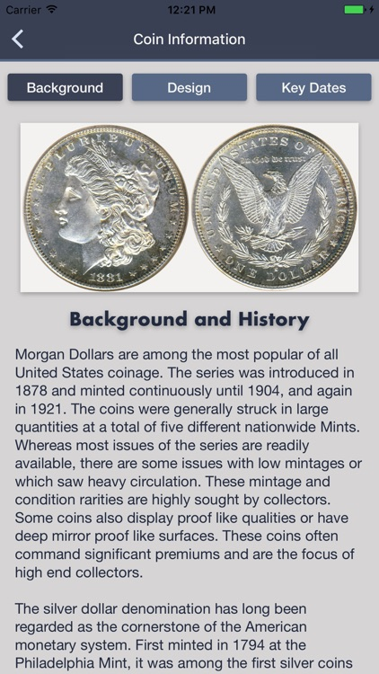 Morgan Dollars - Coin Guide & Collection Tracker screenshot-1