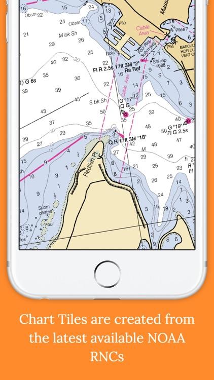 Marine Charts Offline: Gulf of Mexico (LOUISIANA)