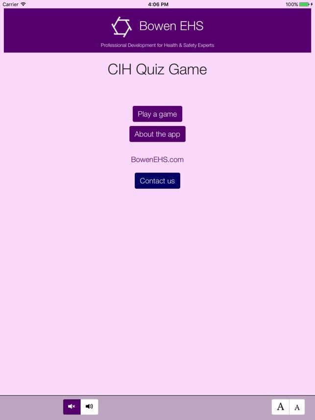 Cih Quiz Game App On The App Store