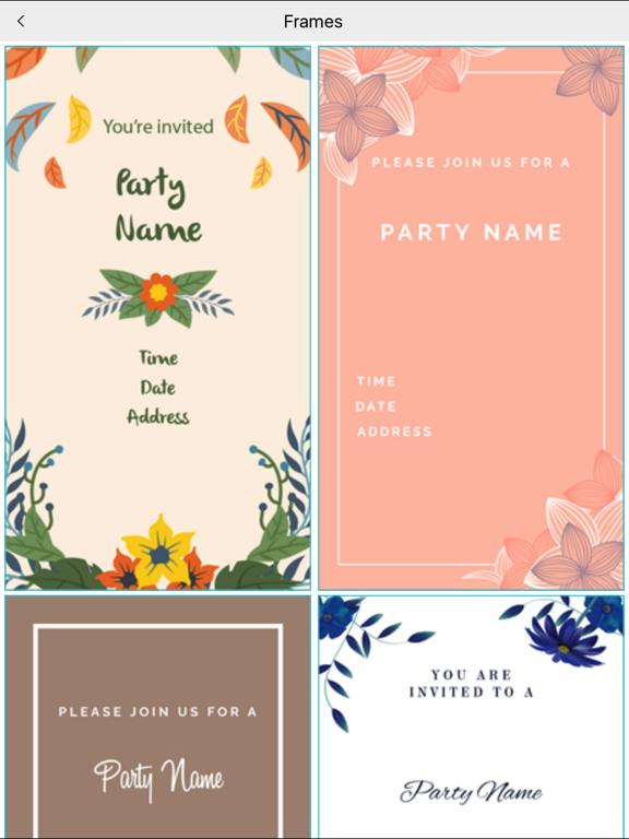 Custom Party Invitation Card Maker App Price Drops