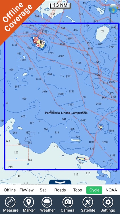 Pantelleria-Linosa-Lampedusa - GPS maps Navigator screenshot-4