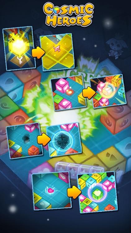 Cosmic Heroes - 3D Puzzle x RPG screenshot-4