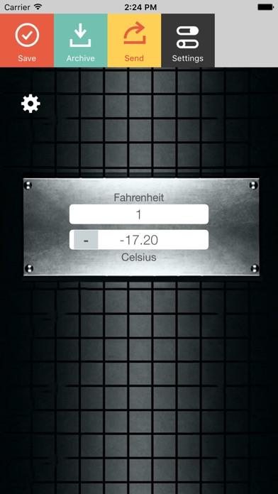 Fahrenheit Celsius Screenshot 1