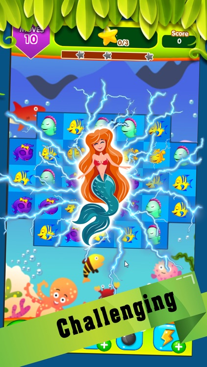 Mermaid party : Undersea adventure with match 3