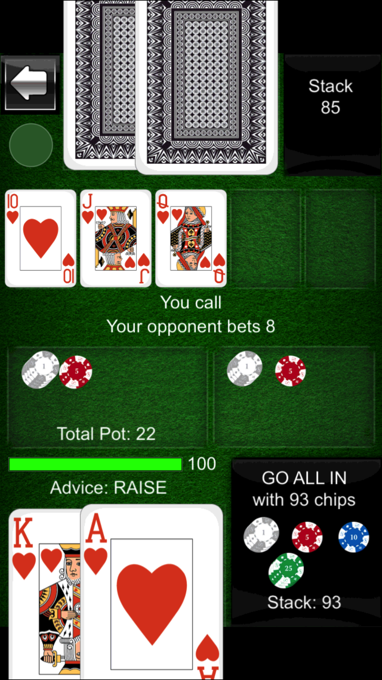 Texas Holdem Offline Poker Screenshot