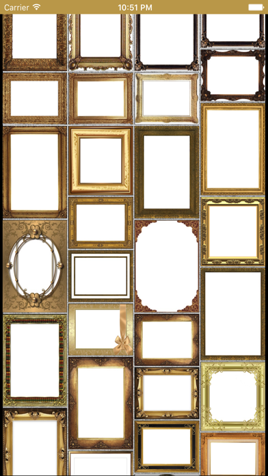 Golden Photo Frames & Luxury Picture Effects screenshot one