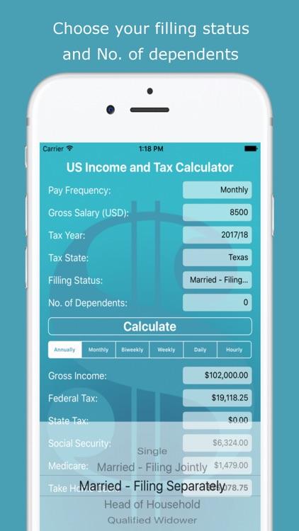 USA Income Tax Calculator screenshot-4