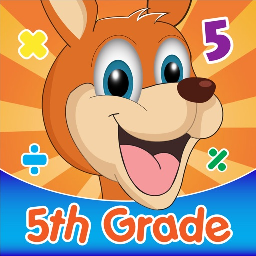 Fifth Grade basic Division Kangaroo Math iOS App