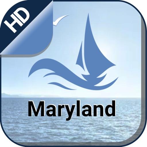 Maryland boating Nautical offline cruising charts