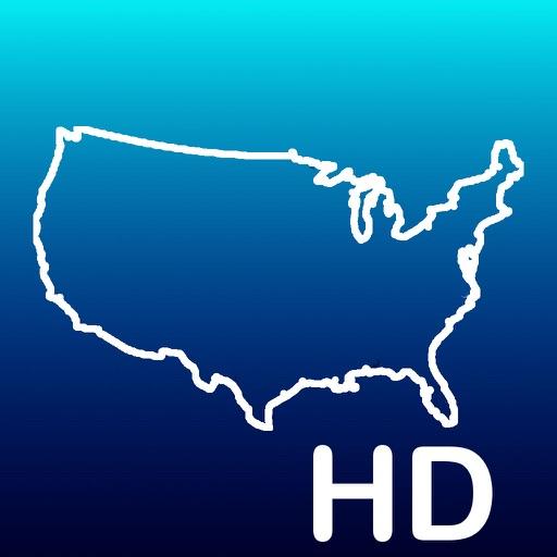 Aqua Map USA HD - GPS Offline Nautical Charts app logo