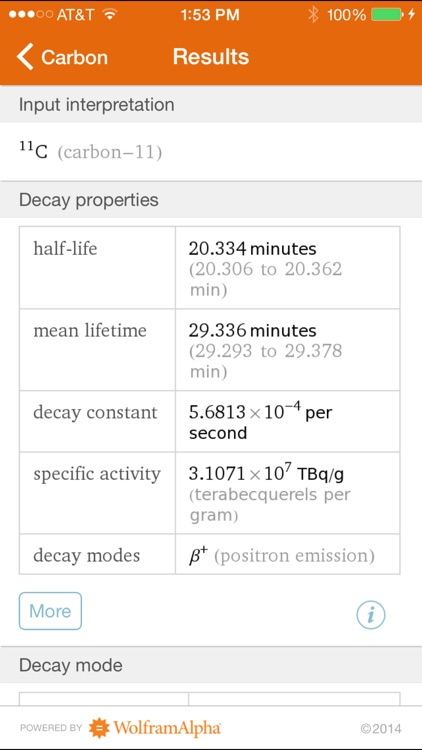 Wolfram Isotopes Reference App screenshot-1