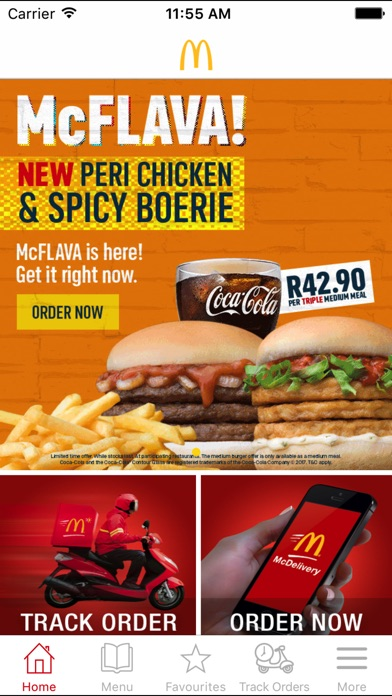 Screenshot for McDelivery South Africa in Germany App Store