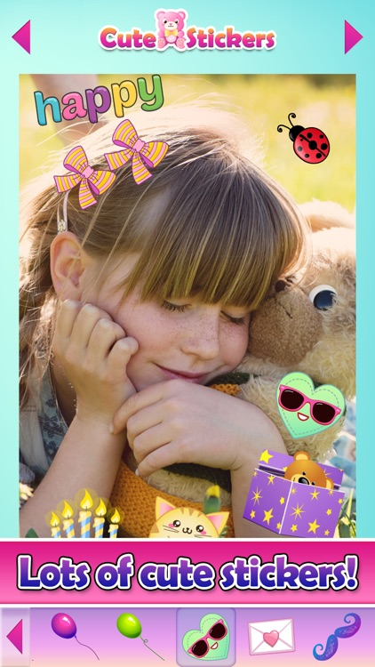 Cute Selfie Stickers for Photos & Picture Editor