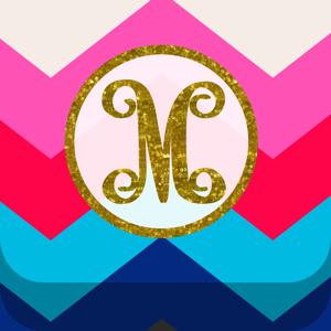 Monogram Wallpaper DIY Glitter Backgrounds Maker app