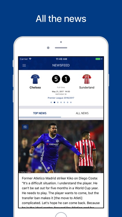 CFC Live – Scores & News for Chelsea Fans screenshot-0